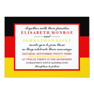 Casamento alemão da bandeira convite 12.7 x 17.78cm