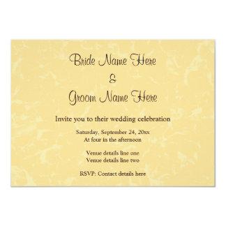 Casamento amarelo e preto com teste padrão subtil convite 11.30 x 15.87cm