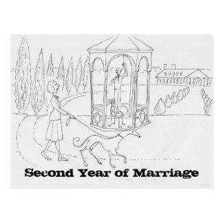 Casamento após o primeiro cartão do ano