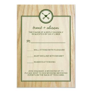 Casamento arborizado & cartões de Glamping RSVP Convite Personalizado