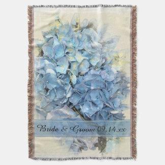 Casamento azul da flor do Hydrangea Manta