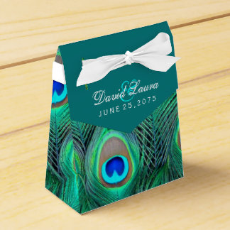 Casamento azul do pavão da cerceta caixinha de lembrancinhas para festas
