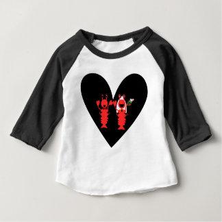 Casamento bonito e do divertimento da lagosta camisetas