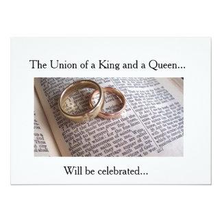 casamento-casamento-bíblia convite 13.97 x 19.05cm