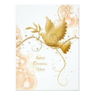 Casamento católico dos redemoinhos da pomba n convite 13.97 x 19.05cm