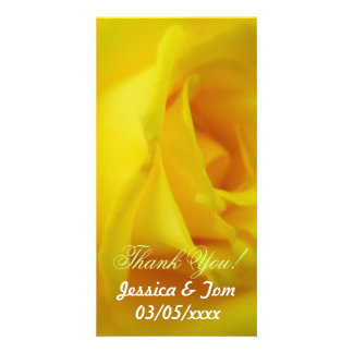 Casamento cor-de-rosa de incandescência do amarelo cartão com foto