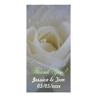 Casamento cor-de-rosa do anjo cartão com foto