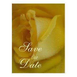 Casamento cor-de-rosa do ouro cartão postal