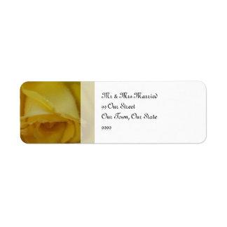 Casamento cor-de-rosa do ouro etiqueta endereço de retorno
