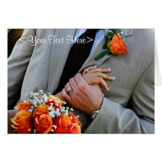Casamento cor-de-rosa do pêssego cartão