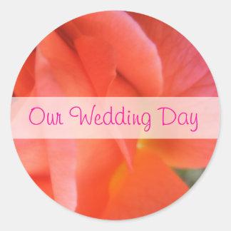 Casamento cor-de-rosa do verão adesivo