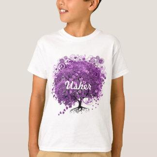 Casamento da árvore da folha de Purple Heart da Camiseta