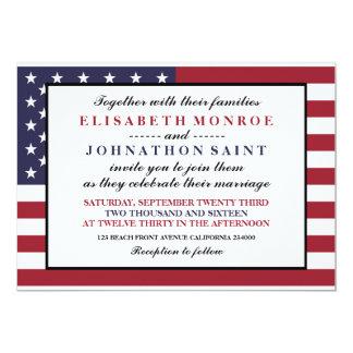 Casamento da bandeira americana convite 12.7 x 17.78cm