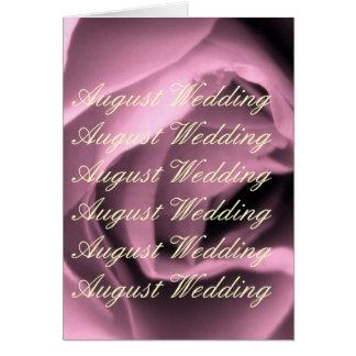 Casamento de agosto cartão comemorativo