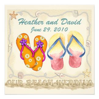 Casamento de praia convite