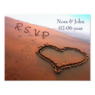 casamento de praia RSVP Convite 10.79 X 13.97cm