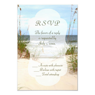 Casamento de praia RSVP Convite 8.89 X 12.7cm