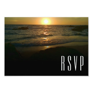 Casamento de praia RSVP do por do sol Convite 8.89 X 12.7cm