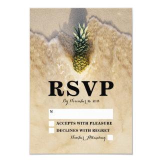 Casamento de praia tropical RSVP do abacaxi do Convite 8.89 X 12.7cm