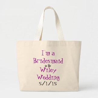 Casamento de Wiley - saco da dama de honra Sacola Tote Jumbo
