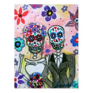 Casamento Diâmetro de los Muertos por Prisarts Cartão Postal