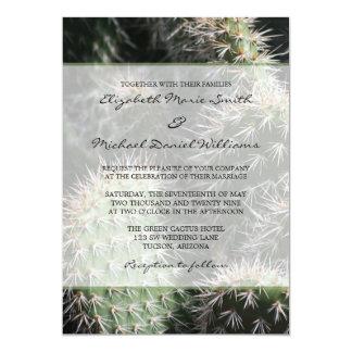 Casamento do cacto convite 12.7 x 17.78cm