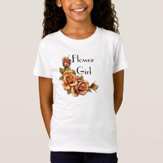Casamento do fulgor do rosa do outono - florista t-shirts