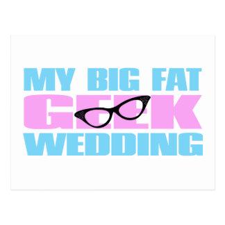Casamento do geek cartao postal