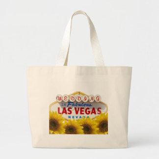 CASAMENTO do girassol no saco fabuloso de Las Vega Sacola Tote Jumbo