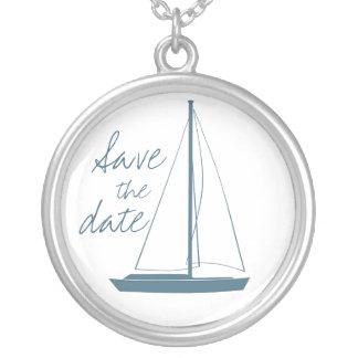 Casamento do iate colar banhado a prata