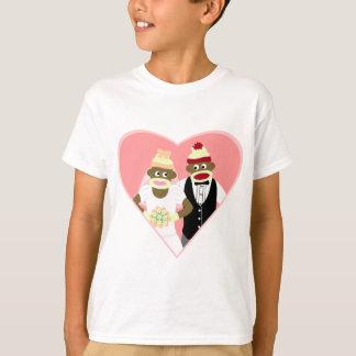 Casamento do macaco da peúga camiseta