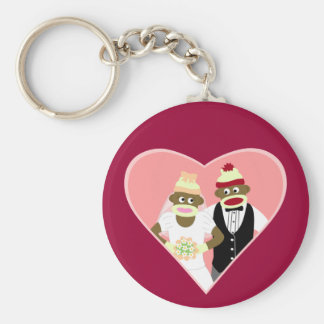 Casamento do macaco da peúga chaveiro