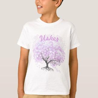 Casamento do pássaro do vintage da árvore da t-shirt