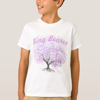 Casamento do pássaro do vintage da árvore da tshirt