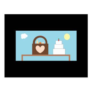 Casamento do piquenique cartão postal