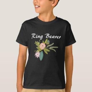 Casamento do portador de anel das bolotas dos camiseta