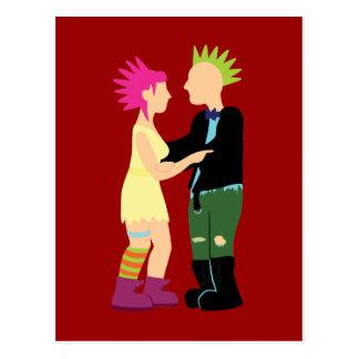 Casamento do punk cartão postal