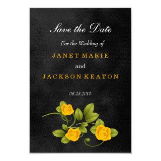 Casamento do rosa preto e amarelo - salvar a data convite 8.89 x 12.7cm