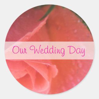 Casamento do Rosebud do primavera Adesivo