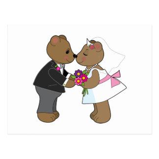 Casamento do ursinho cartão postal