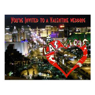 Casamento dos namorados em Las Vegas Cartao Postal