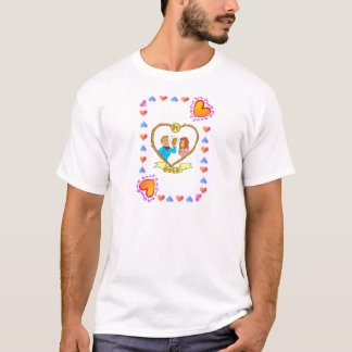 casamento dourado camisetas
