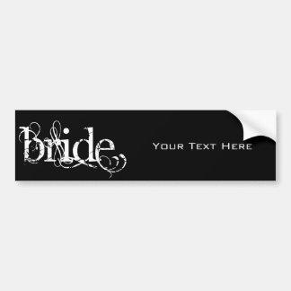 Casamento elegante do Grunge - noiva - B&W Adesivo Para Carro