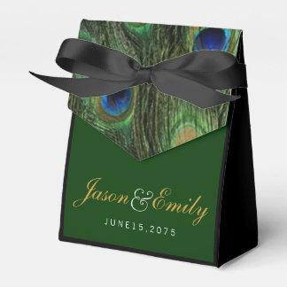 Casamento elegante do pavão do verde esmeralda e lembrancinhas para casamento