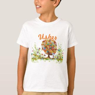 Casamento Enchanted do ramo lateral da floresta T-shirt