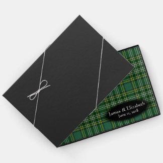 Casamento escocês da xadrez de Tartan de Currie do Livro De Visitas
