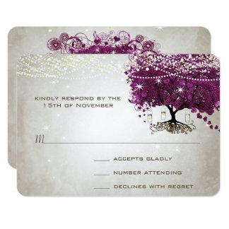Casamento escuro da árvore do Sangria da folha do Convite 8.89 X 12.7cm
