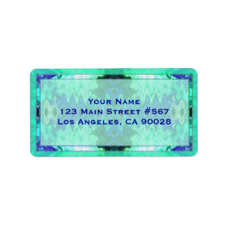 casamento extravagante do azul de turquesa etiqueta de endereço