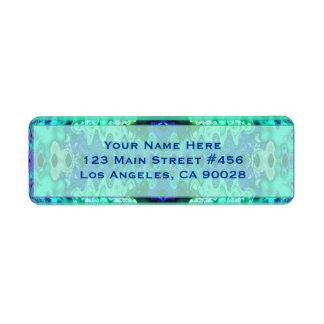 casamento extravagante do azul de turquesa etiqueta endereço de retorno