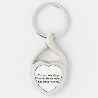Casamento feito sob encomenda Keyring torcido do Chaveiros
